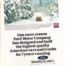 Ford Quality Job 1 - Reliability