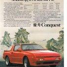 Chrysler Conquest  Magazine Advertisement