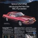 Vintage Ford Thunderbird Magazine Advertisement