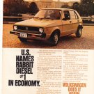 VW Magazine Advertisement Rabbit Magazine Advertisement