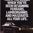 Vintage Volvo 780 Coupe Magazine Advertisements