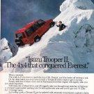 Vintage Isuzu Trooper II Magazine Advertisement