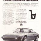 Vintage Fiat X1 Magazine Advertisement