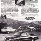 Vintage Subaru Magazine  Advertisement