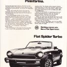 Vintage Fiat Spider Magazine Advertisement