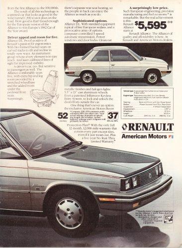 Vintage American Motors Renault Magazine Advertisement