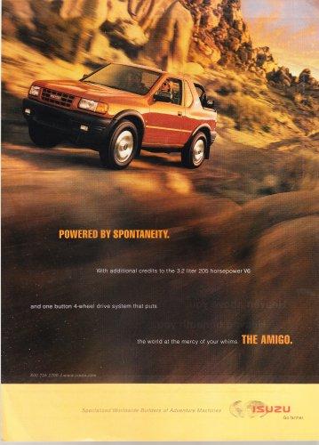Isuzu Amigo Vintage Magazine Advertisement