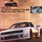 Toyota Celica Magazine Advertisement