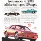 Vintage Dodge Daytona Magazine Advertisement