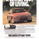 Vintage Isuzu Stylus Magazine Advertisement