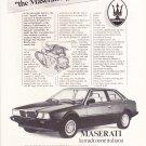 Maserati Classic Vintage Magazine Advertisement