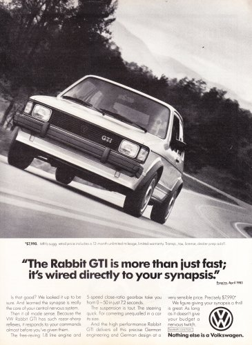 Volkswagon Rabbit Vintage Magazine Advertisement (2.99)