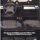 Wolfsburg Jetta VW Vintage Magazine Advertisement
