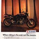 Suzuki VX800 Motorcycle Vintage Magazine AD