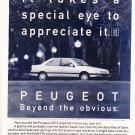Vintage Peugeot 405 Magazine Advertisement