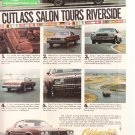 Oldsmobile Cutlass Salon Vintage Magazine Advertisement