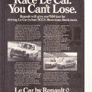 Le Car by Renault Vintage Magazine Advertisement