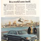 Mercedes Benz 450SE Vintage Magazine Advertisement