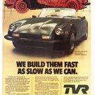 TVR Vintage Magazine Advertisement (rare)
