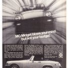 MG Midget Vintage Magazine Advertisement