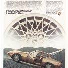 Porsche 924 Weissach Limited Edition Vintage Magazine Advertisement