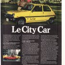 Le Car by Renault Vintage Magazine Advertisement