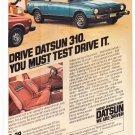 Datsun 310 Vintage Magazine Advertisement