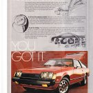 Toyota Celica GT Vintage Magazine Advertisement