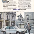Fiat Strada Vintage Magazine Advertisement