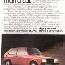 VW Rabbit Sparmeister Vintage Magazine Advertisement