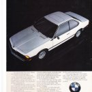 BMW 633 CS Vintage Magazine Advertisement