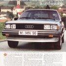 Audi 5000 Vintage Magazine Advertisement