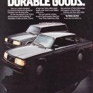 Volvo 240 Sedan Advertisement Vintage Magazine Ad
