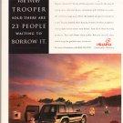 Isuzu Trooper Advertisement Vintage Magazine AD