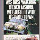 Peugeot 505 Advertisement Vintage Magazine AD