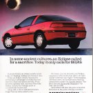 Mitsubishi Eclipse Ad Vintage Magazine Advertisement