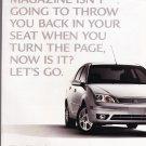 Ford Focus Ad vintage magazine advertisement