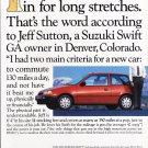 Suzuki Swift Advertisement vintage magazine ad