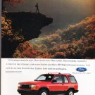 Ford Explorer AD Vintage Magazine Advertisement