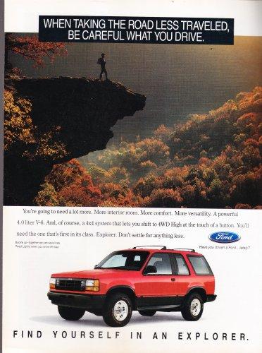 Ford Explorer AD Vintage Magazine Advertisement