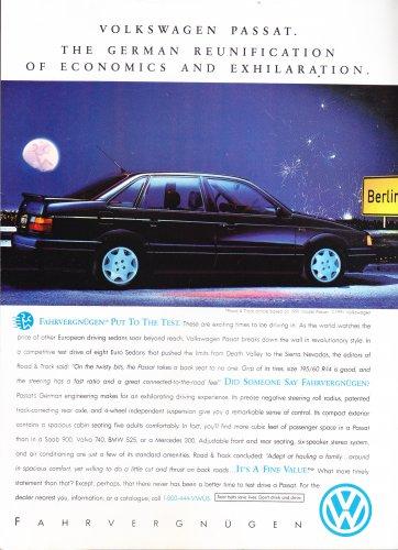 VW Passat Ad Vintage Magazine Advertisement