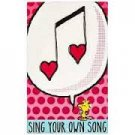 WOODSTOCK PEANUTS Sing Your Own Song Metal/tin Home Decor Decorative Sign NEW