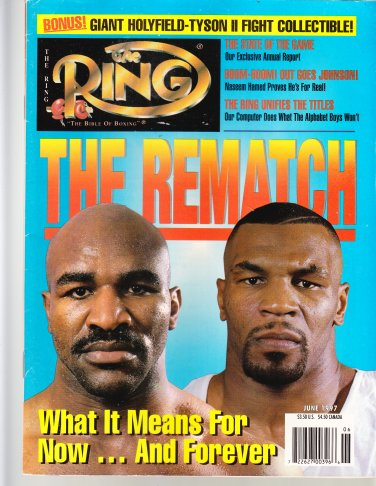 The Ring Boxing Magazine June 1997 Mike Tyson Evander Holyfield