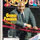 The Ring Boxing Magazine September 1991 George Forman Morrison v Mercer