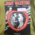 sheet music for Jimmy Valentine composed by Gus Edwards