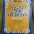 Solos for students piano, jon george