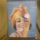 My Castles in the Air Are Tumbling Down - vintage 1919 sheet music
