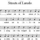 sheet music streets of laredo roy harris