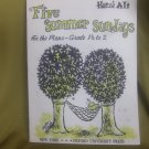 Five Summer Sundays Piano Solo, Hansi Alt, Sheet Music