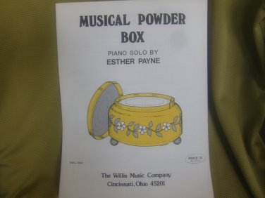 Musical Powder Box Esther Payne Early Intermediate Level
